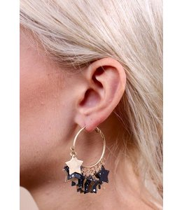 Caroline Hill Star Gazer Hoop Earrings