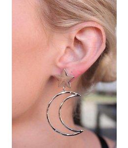 Caroline Hill E12038 Star w/ Crescent Moon Earrings