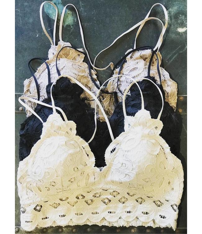 Wishlist Double Strap Lace Bralette WL17-0136