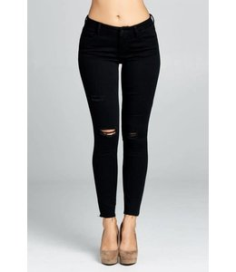 Madison Distressed Ankle Skinny Jeans