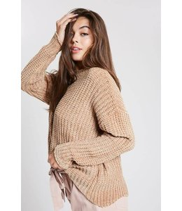 Wishlist Chenille Scalloped Hem Sweater