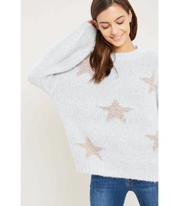 Wishlist Ombre Metallic Star Sweater