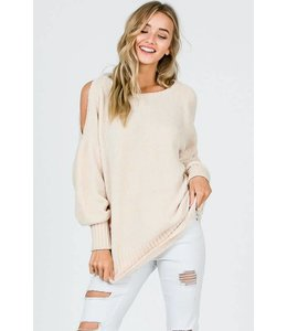 Cezanne Cold Shoulder Sweater