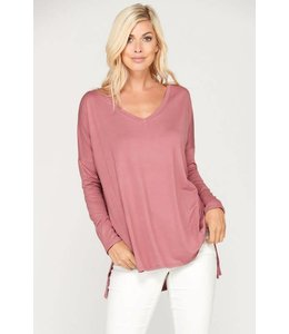 Cezanne V-Neck Long Sleeve Top