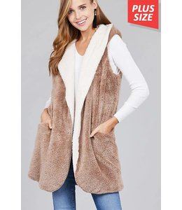 Apple B Faux Fur Vest AV-950706