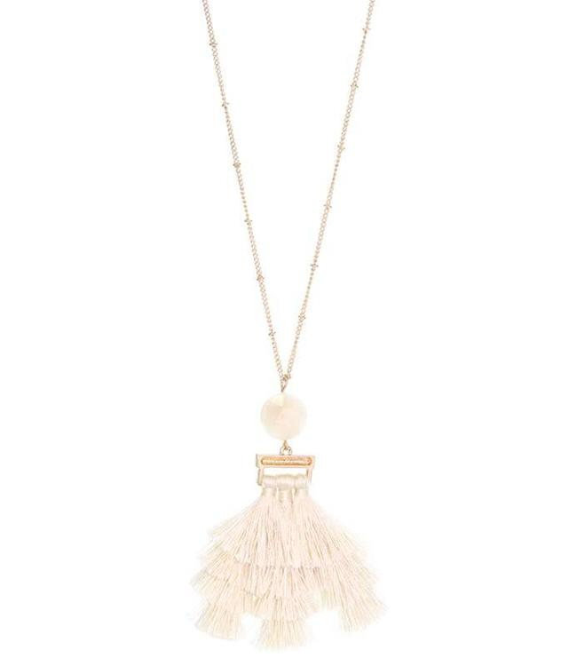 Suzie Q Stone/Tassel Necklace 170NK6700