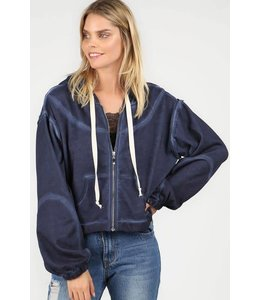POL Cropped Zip-Up Hoodie