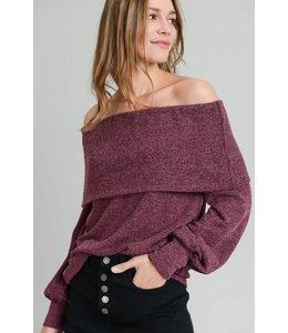 Doe & Rae Off Shoulder Sweater 8040T