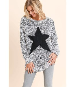 Doe & Rae Grey Star Sweater