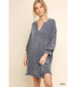 Umgee Pocket Dress 3/4 Sleeves