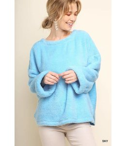 Umgee Fuzzy Oversized Sweater A4332