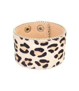 Suzie Q Leopard Pattern Wide Bracelet