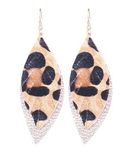 Suzie Q Patterned Leather Earrings 190ER7