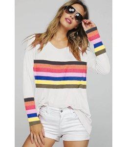 BiBi Rainbow Stripe Top