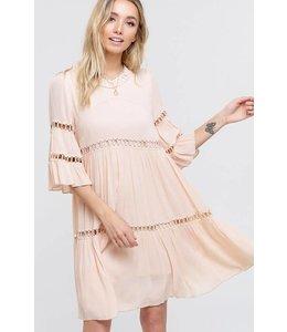 PODOS Bell Sleeve Babydoll Dress