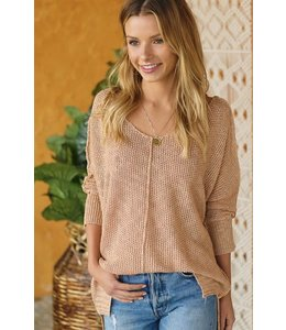 25e8554aaf Lux V-neck Sweater hut7024S. A neutral sweater with ...