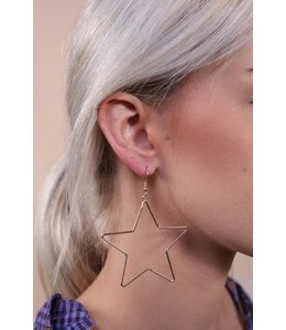 PODOS Star Hoop Earrings