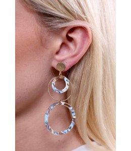 PODOS Resin/Metal Circle Earrings