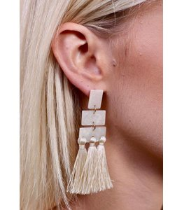 PODOS Jae Geo Tassel Earrings