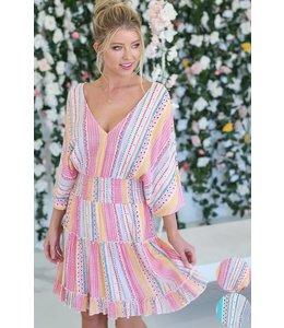 PODOS Tiered Dress w/ Smocked Waist Band