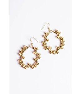 PODOS Gold Beaded Earrings