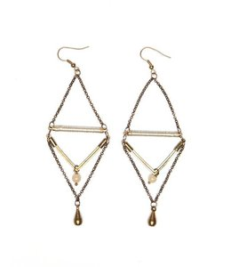 PODOS Geometric Drop Earrings