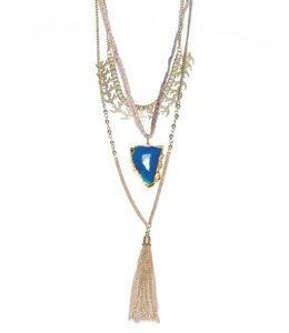 PODOS Multi-Layered Gemstone Necklace