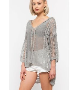 PODOS Apparel Hi-Lo Loose-fit Sweater Top