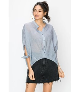 PODOS Apparel Chinese Collar Blouse