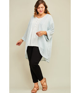 PODOS Apparel Semi-Sheer Open Front Cardigan