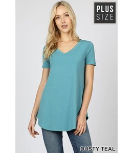 PODOS V-Neck Relaxed Fit Top
