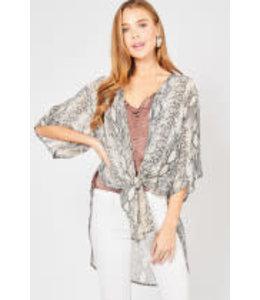 PODOS 1/2 Sleeve Kimono