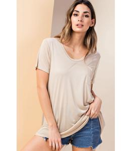 PODOS Slouchy Pocket Jersey Top