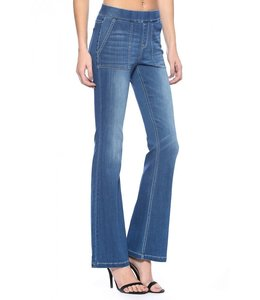 PODOS Mid-Rise Flare Jeggings