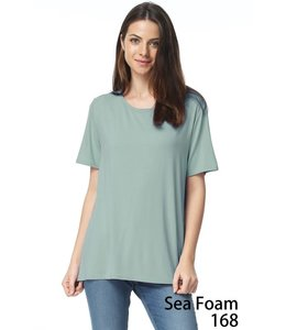 PODOS Bamboo Cap Sleeved Knit Top