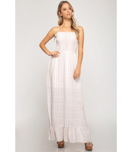 PODOS Smocked Top Maxi Dress