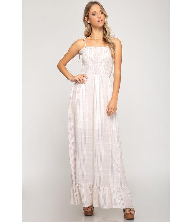 PODOS Smocked Top Maxi Dress