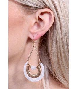 PODOS Worn Gold/Resin Earrings
