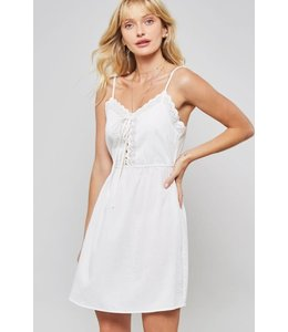 PODOS Apparel Eyelet Trim Dress