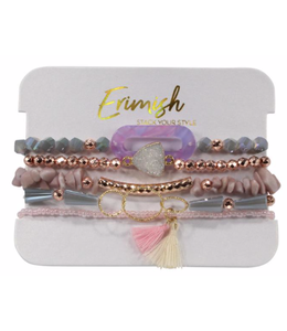ERMISH Fruit Loop Beaded Bracelet Set