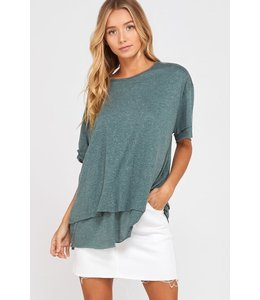 PODOS Double Layer Loose Fit Top