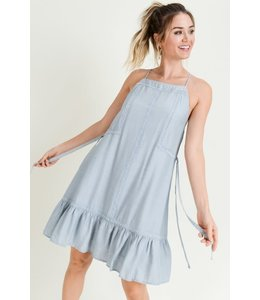 PODOS Ruffled Hem Shift Dress