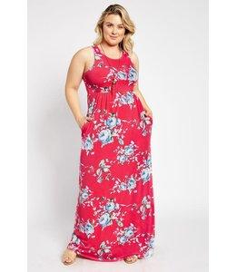 PODOS Floral Maxi Dress