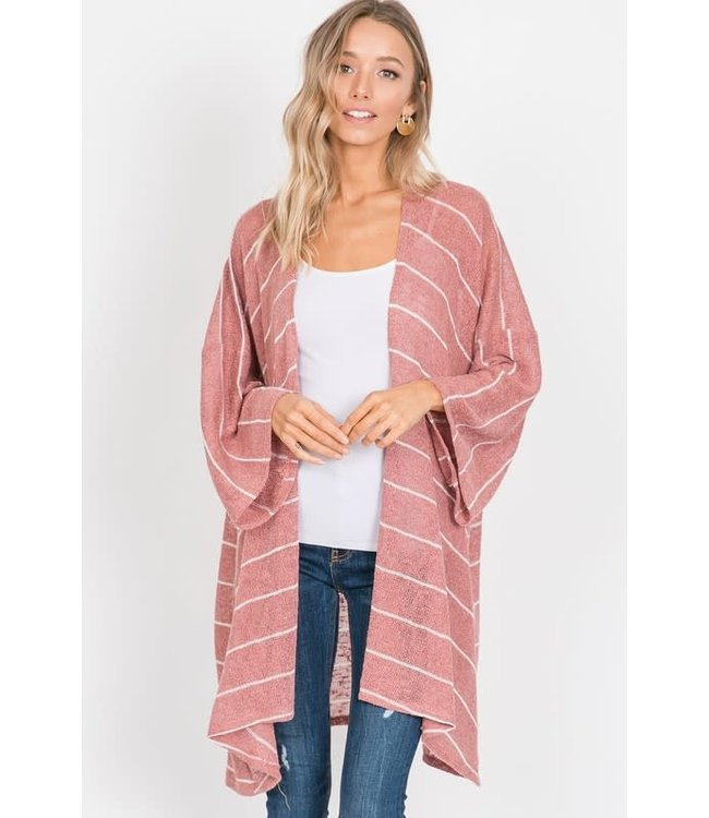PODOS Knit Striped Cardigan