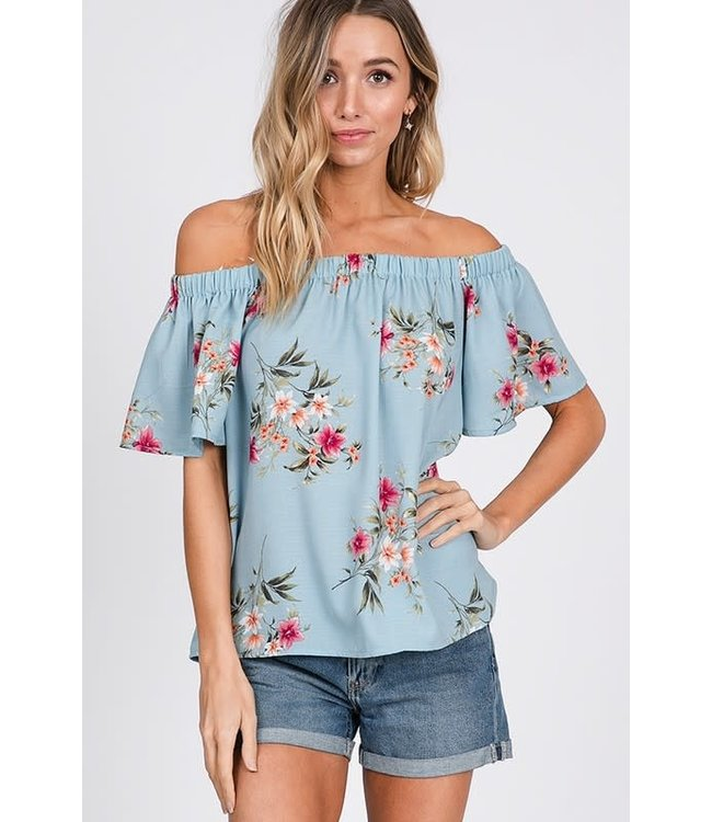 PODOS Off-Shoulder Floral Top