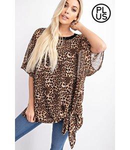 PODOS Leopard Print Top