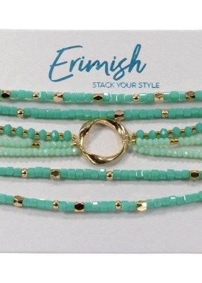 ERMISH Erimish Beaded Bracelet Set Cards