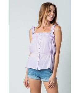 PODOS Ruffled Bubble Tank Top