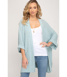 PODOS Open Front Cardigan w/ Pockets