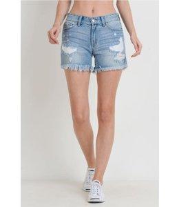 PODOS Destroyed Shorts w/ Side Slits